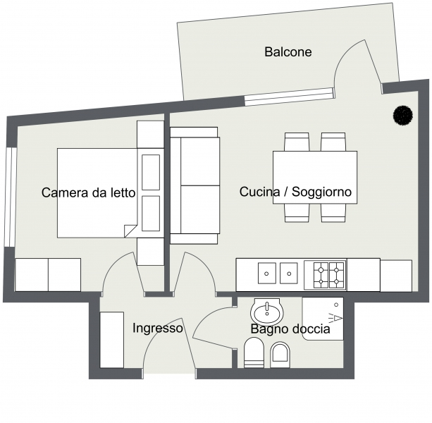 Via Silvio Pellico (2 vani) - Level 1 - 2D Floor Plan.jpg
