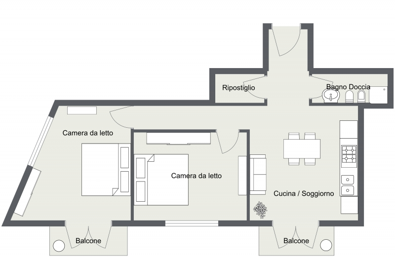 Via Silvio Pellico - Level 1 - 2D Floor Plan.jpg