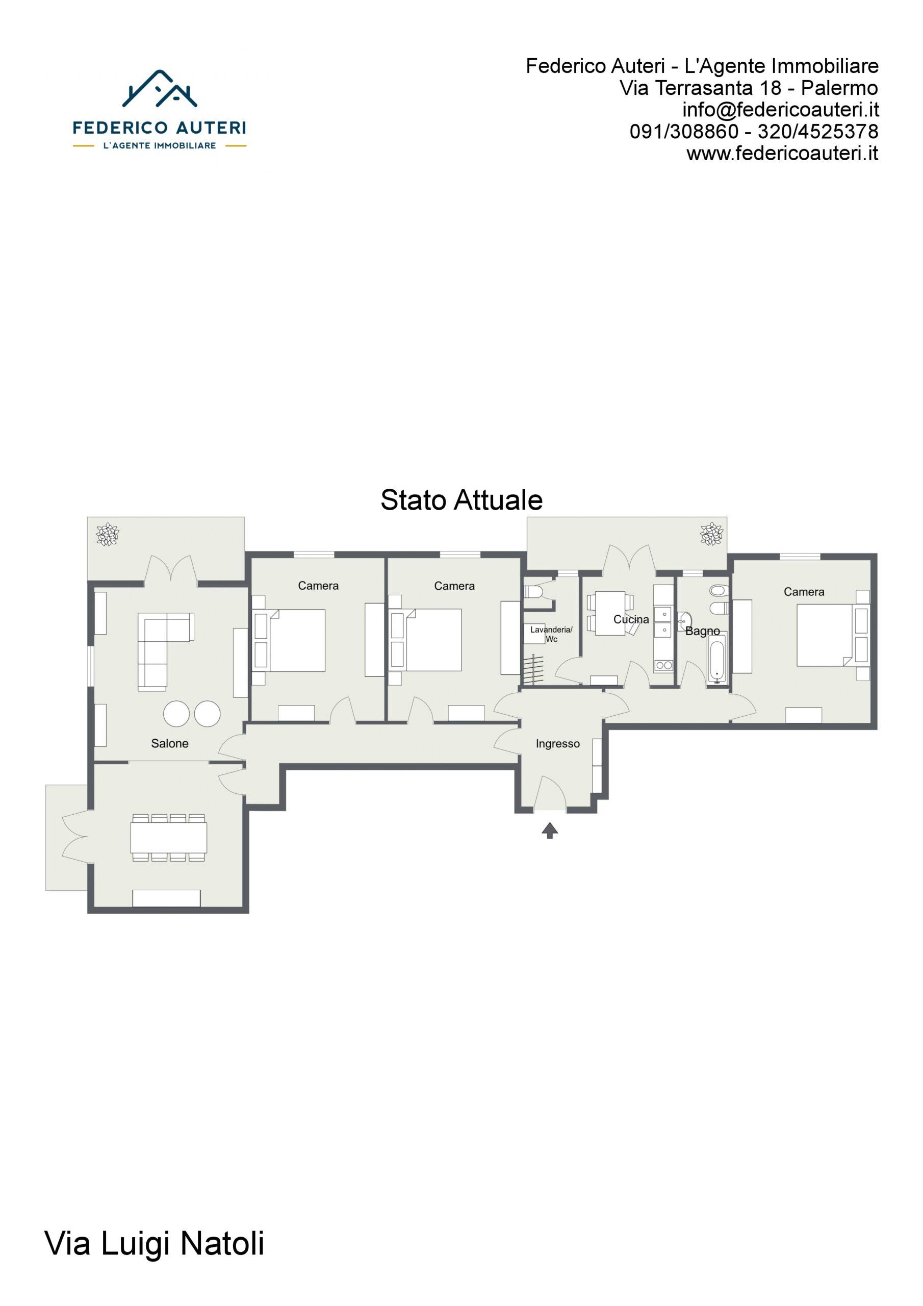 Floorplan letterhead - Via Luigi Natoli - Stato Attuale - 2D Floor Plan.jpg